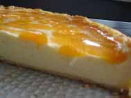 German Cheesecake with madarin oranges