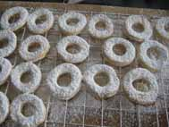 german cookies with powdered sugar